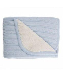 Kikka boo pletena deka sa toplom sherpa stranom