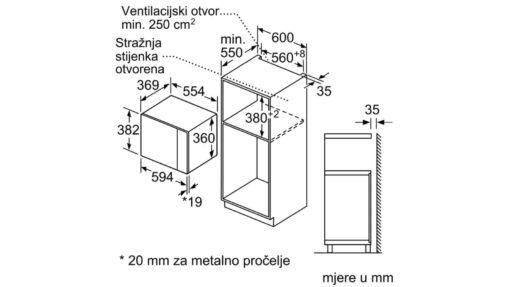 Ugradbena mikrovalna BFL554MB0